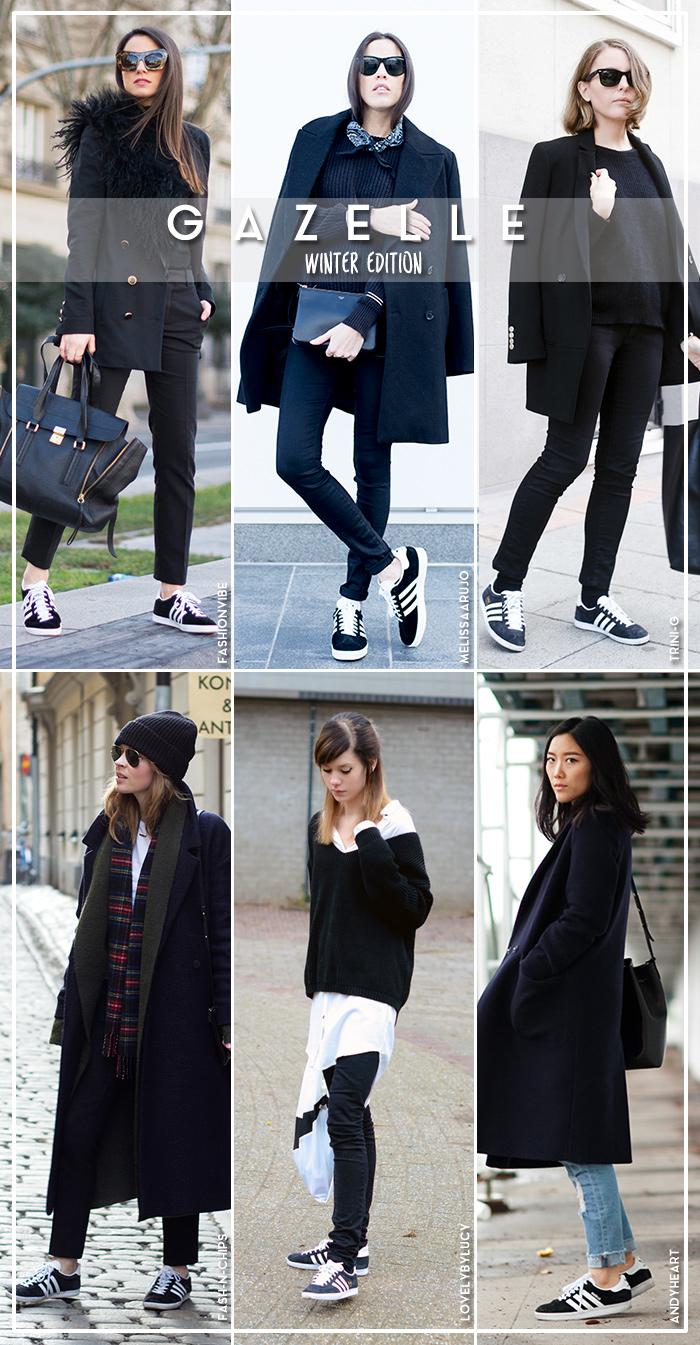 4ca2f8fe637 Six Ways to Wear adidas Gazelle | Blue is in Fashion this Year ...