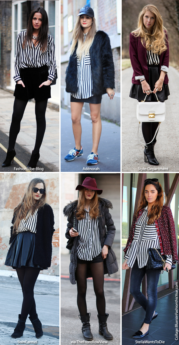 With what to wear striped shirts: photo