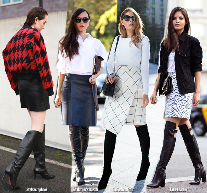 In Fashion | Knee High Boots - Blue is in Fashion this Year