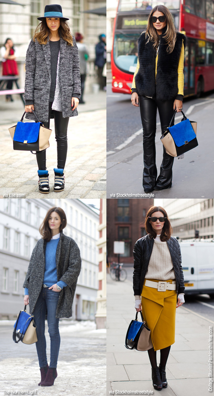 celine pouch clutch price - Inspiration: C��line Trapeze Bag - Blue is in Fashion this Year