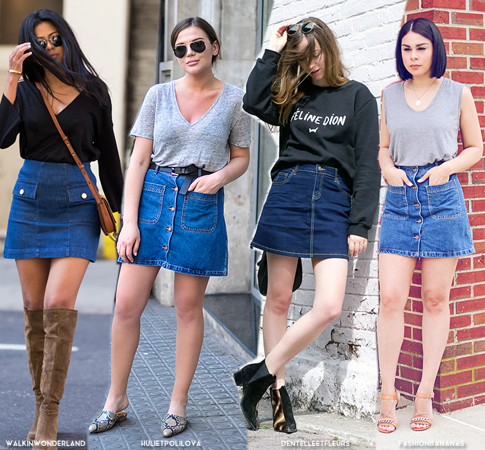 New Ways to Style Your Denim Skirt - Blue is in Fashion this Year