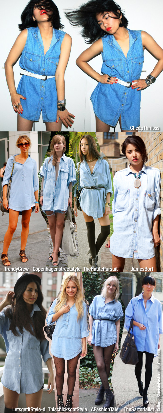 975343de4b66 Easy To Wear  Denim Shirt as a Dress - Blue is in Fashion this Year