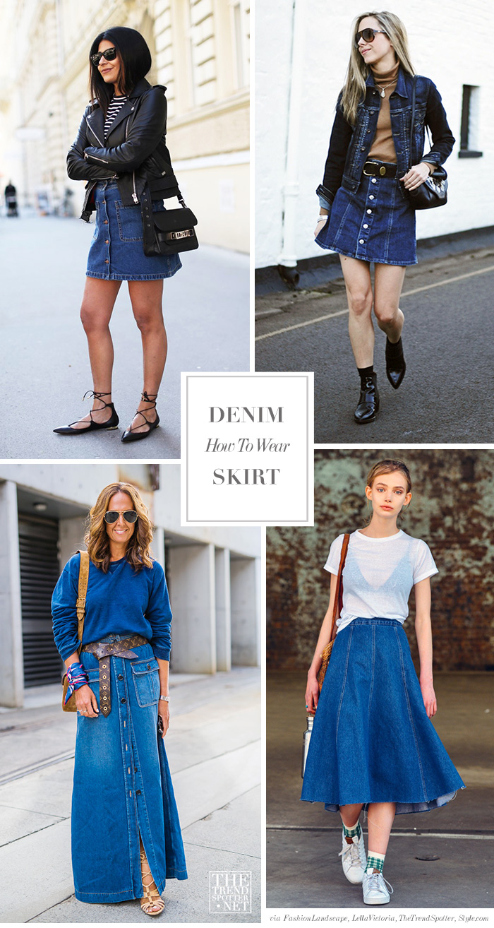 Denim long skirt how to wear images