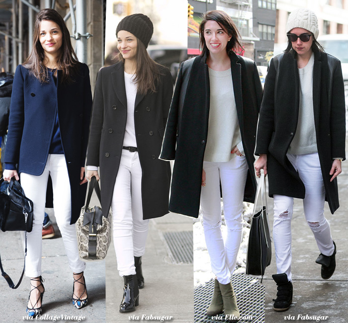 How to Wear: White Jeans - Blue is in Fashion this Year