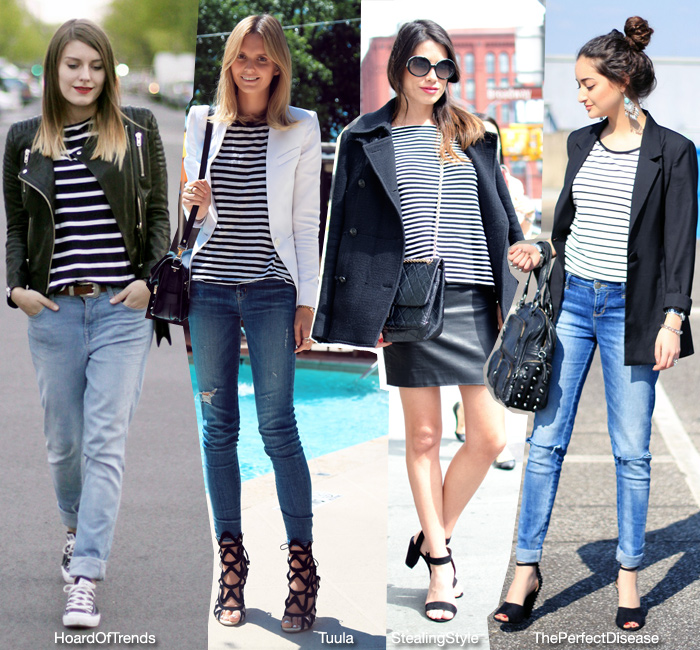 How To Wear: Striped Top and Jacket