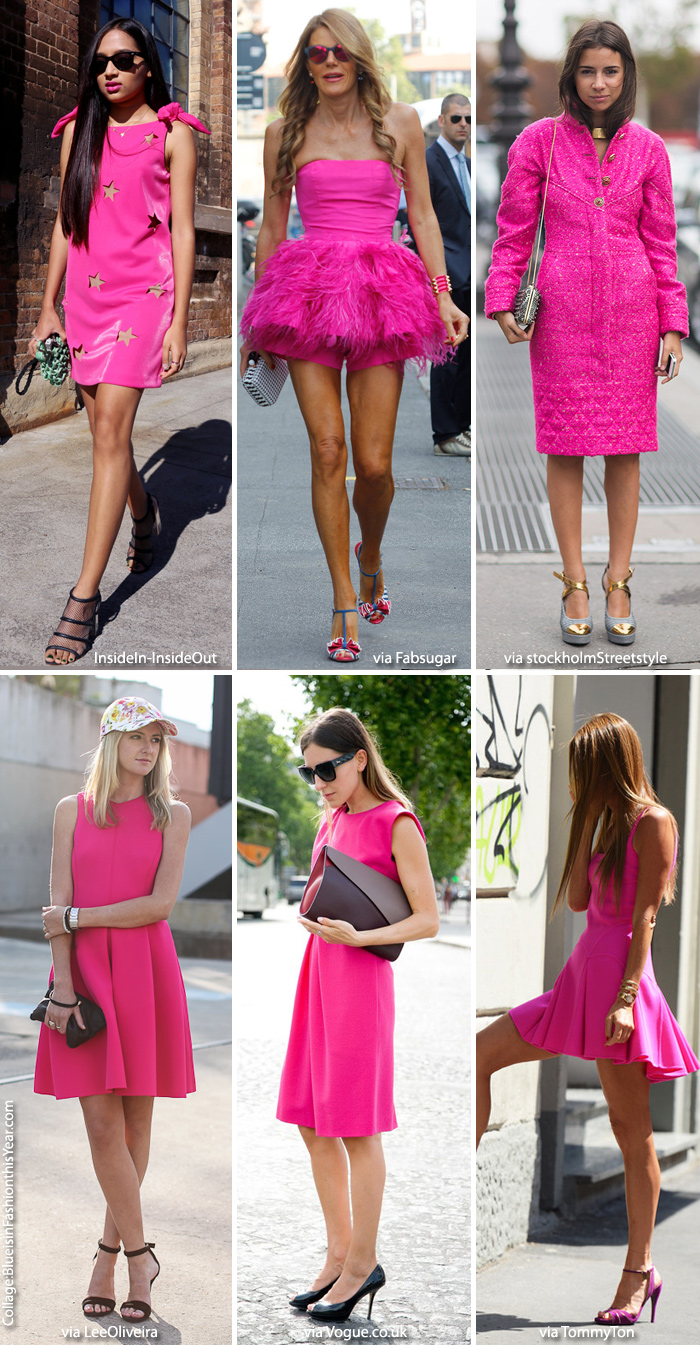 Inspiration: Little Pink Dress - Blue is in Fashion this Year