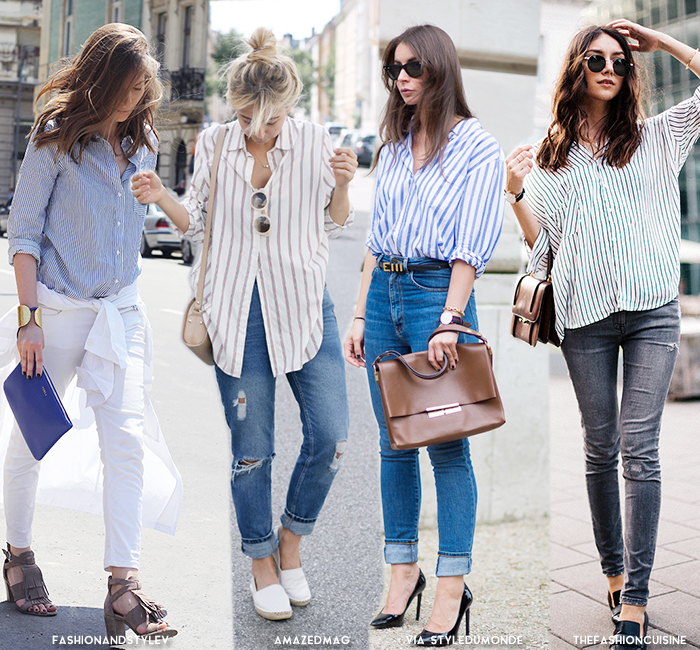 8 best basic looks in shirt jeans blue is in fashion this year