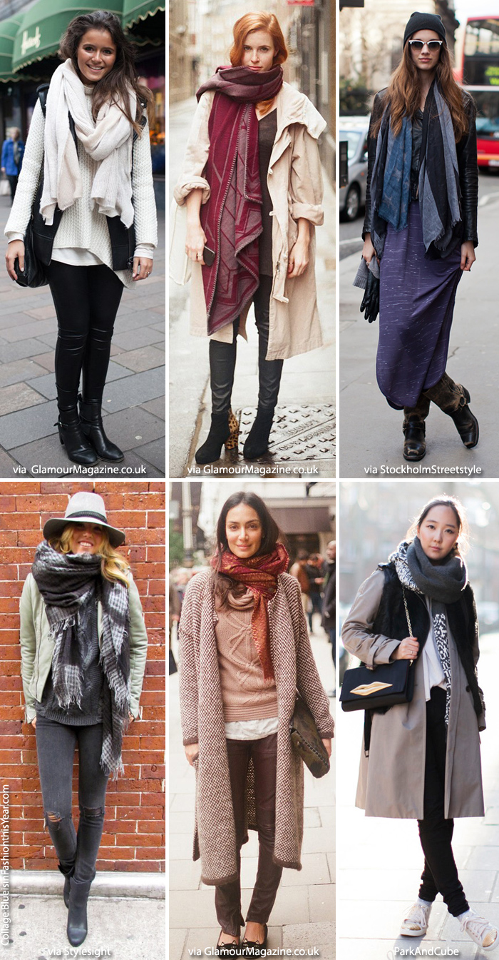 Inspiration Winter Layers Scarf Blue Is In Fashion This Year