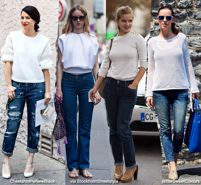white top with jeans - Jean Yu Beauty